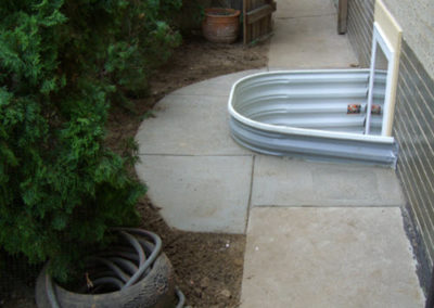 Egress Install in Cement